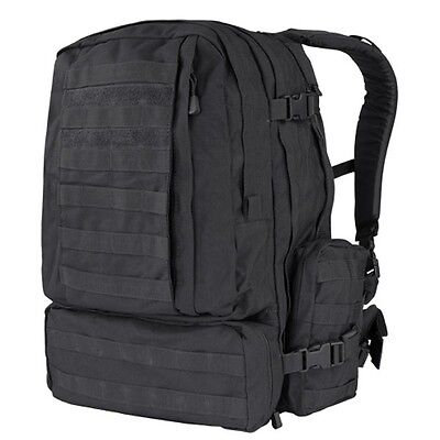 NEW CONDOR Black #125 MOLLE 3 Day Mission Assault Patrol Pack Hiking Backpack