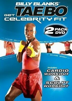 Billy Blanks EXERCISE DVD Tae Bo Get Celebrity Fit Sculpt and Cardio 2 Workouts