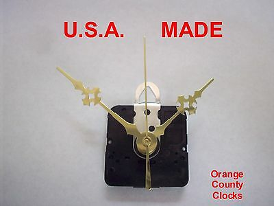 """Battery Quartz Clock Movement Kit for Dials Up to 1/2"""" Thick, - LL"""