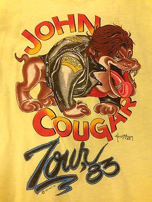 John Cougar Mellencamp S/M Long Sleeve T SHIRT 1983 TOUR Kevin Brady Tattoo Art