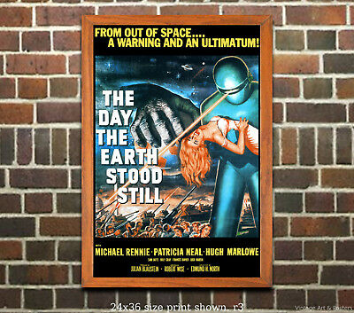 The Day the Earth Stood Still #1 - Vintage Sci-Fi Film or Movie Poster