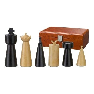 Chess figures - Domitian - Wood - Modern Style - Kings height 90 mm