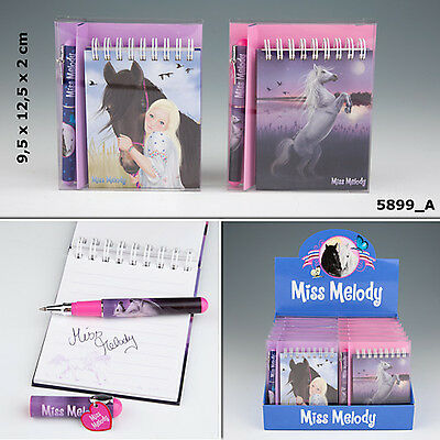 New Miss Melody Notebook With Ballpen/horses Dreams