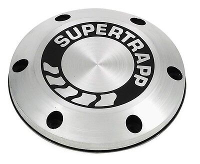 Aluminum End Cap with Shield with Logo SuperTrapp  402-3046