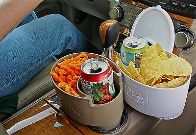 My Smart Snacker Personal Travel Container - Fits in Existing Cup Holders & More