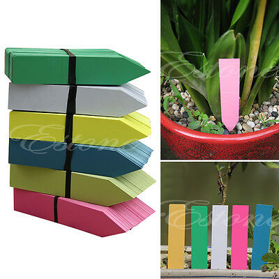 DIY 100 Pcs 4Inch Plastic Plant Seed Labels Pot Marker Nursery Garden Stake Tags