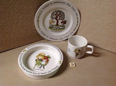 Set Of Three , Childs Bowl Cup  & PlateFRIEND~Joan Walsh Anglund England