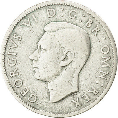 [#74282] GREAT BRITAIN, Florin, Two Shillings, 1943, KM #855, VF(30-35), Silver
