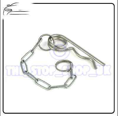 Tractor Trailer Towing R Clip & Chain 115mm TMT1039