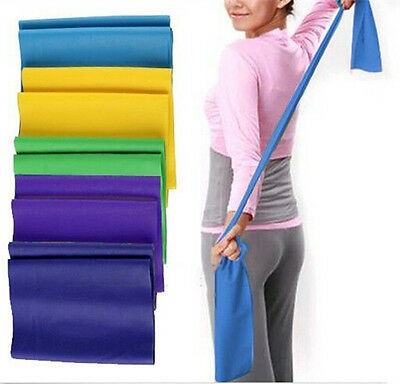 Hot Sale Yoga Pilates Rubber Stretch Resistance Exercise Fitness Band Belts
