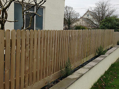 20 Pack 1200Mm (4Ft) Round Top Picket Garden Fence Panels Wood / Pales