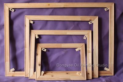 More other size (3.4x1.5cm)-classical wood stretcher bars canvas easy frame fir