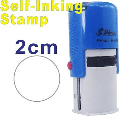 2cm Self-inking rubber stamp Design your own custom logo name address refillable