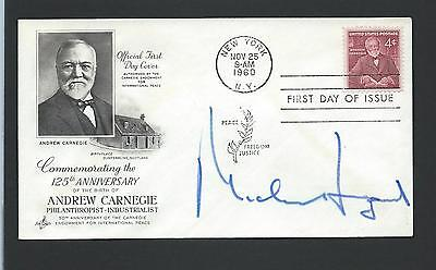 Michel Legrand signed postal cover French Composer, Arranger, Conductor Pianist