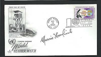 Marvin Hamlisch signed postal cover American Composer and Conductor