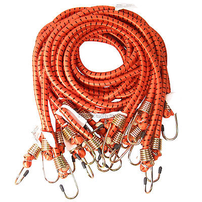 """10 PK Heavy Duty 48"""" 4' Long x 1/2"""" Dia Thick Bungee Cords Tie Down Cord Strap"""