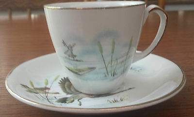 Meakin Flying Ducks Demitasse Cup and Saucer