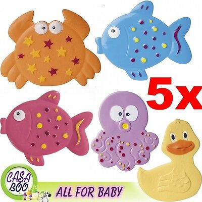"5 pcs Mini bath mats Bath Shower  ""col.Ocean"" Super Suction Baby Safety Non Slip"