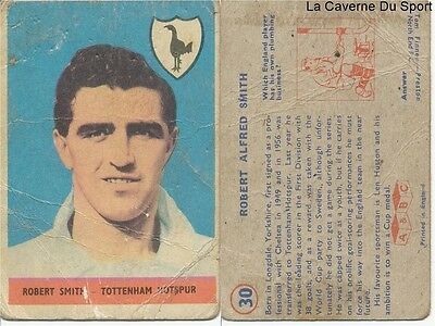 030 Robert Smith # England Tottenham Card Premier League 1958 A&bc Gum