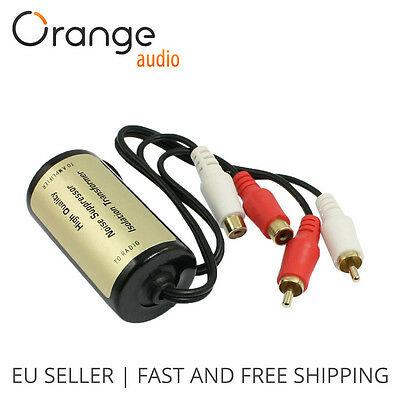 HIGH QUALITY RCA Amplifier Audio Noise Filter Ground Loop Isolator Suppressor