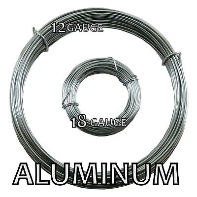 Aluminum Round Bead Smith Wire 12 and 18 gauge 39 ft