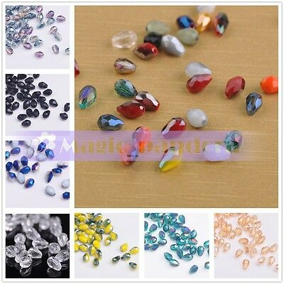 50pcs 3mm Crystal Glass Teardrops  Faceted  Loose beads Jewelry by Handcraft