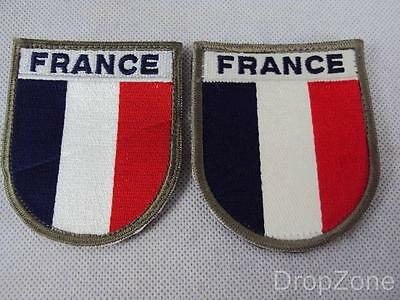 Pair of French Army Military Arm / Sleeve Patches / Badges