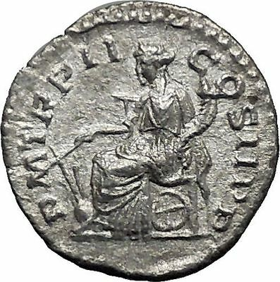 ELAGABALUS Bisexual  Emperor Silver Roman Coin Fortuna Luck Cult Wealth i44926