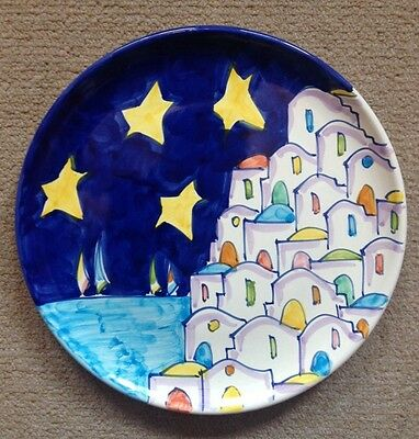 Vietri Pottery-9,1/2in. Plate Positano Patt.Made/Painted by hand in Italy