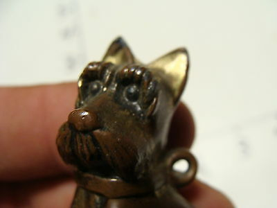 Vintage SCOTTY DOG brass made in japan