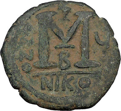 Justin II & Queen Sophia 565AD Large Ancient Medieval Byzantine Coin i44937