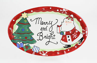 Fitz and Floyd Christmas Cookies for Santa Platter Merry & Bright NEW