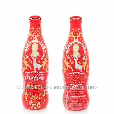 Coca Cola UK '09 Homecoming Scotland Limited Edition bottle. Glass/Shrinkwrapped