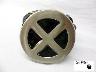 Cool Marvel's X-Men Chrome Looking Logo/ Symbol Buckle With Belt *brand New*