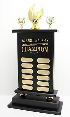 """12 YEAR, 23"""" ARMCHAIR QB FANTASY FOOTBALL TROPHY! FREE ENGRAVING! SHIPS IN 1 DAY"""