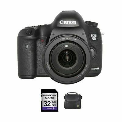 Canon EOS 5D Mark III DSLR Camera w/24-105mm Lens + 32GB & Case