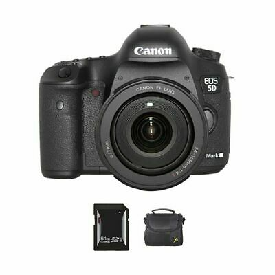Canon EOS 5D Mark III DSLR Camera w/24-105mm Lens + 64GB & Case