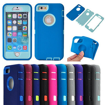 """10pcs/lot Hybrid ShockProof Case Built-in Screen Protector for iPhone 6 Plus5.5"""""""