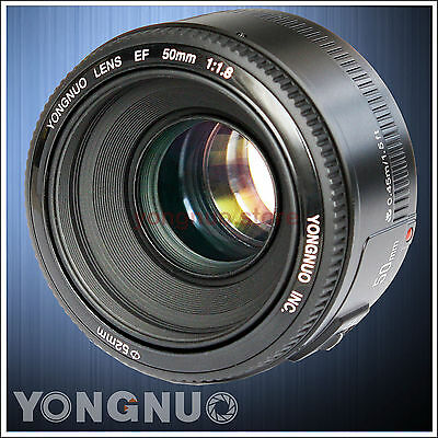 Yongnuo YN EF 50mm F/1.8 AF/MF Prime Fixed Lens for Canon EOS Rebel Camera