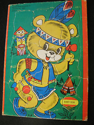 Warren Built Rite Children's Tray Puzzle Circus Bobby Bear # 510