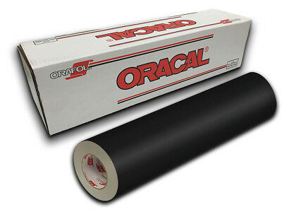 "12"" X 4ft - Black Matte Oracal 631 Craft, Graphics & Hobby Cutting Vinyl"