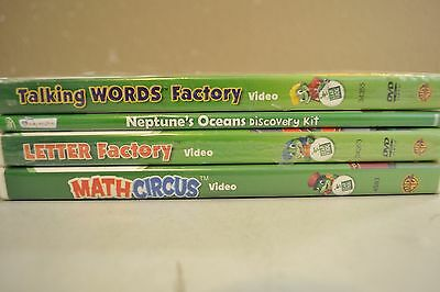 Lot of 4 Leap Frog DVDs S-77 Guaranteed To Play