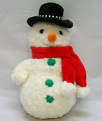 Bestever Plush Snowman Hat Red Scarf Orange Nose Winter Christmas Holidays