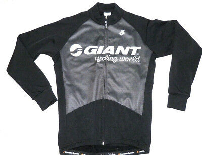 Giant Mens Tech Fleece Cycling Jacket - Long Sleeve - Black