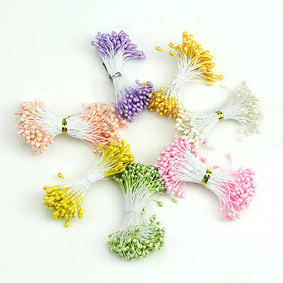 Artificial Flower Stamen Double Heads Pearlized Cards Cakes Decoration Craft New
