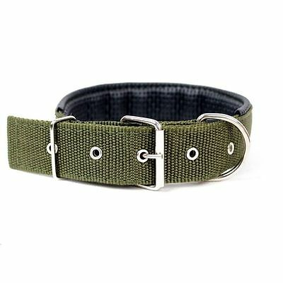 Durable Check Pattern Nylon and Leather Collar For Puppy Cat Pet  Dog New