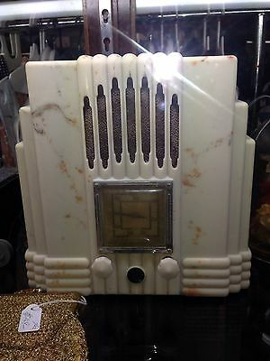 Empire State Bakelite Radio Cream Marble