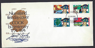 Niue 1974 Cook Bicentenary set on official unaddressed first day cover