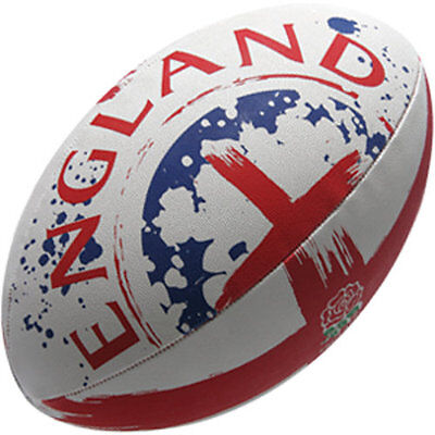 102053 SPORTS DEAL Gilbert England Flag Rugby Suporter Ball - Size 5