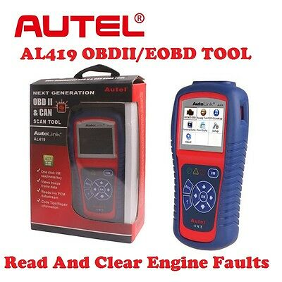 Genuine Autel AL419 Diagnostic Scanner Code Reader OBDII EOBD For Engine Light